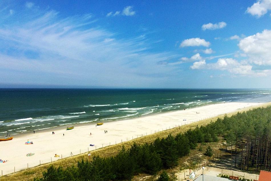 Dębki plaża Bałtyk